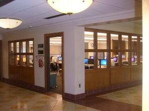 Blick vom Flur zum Schreibzentrum