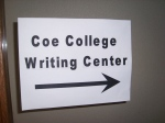 sign coe college writing center