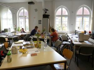 Ruhige Schreibatmosphäre im Schreibzentrum
