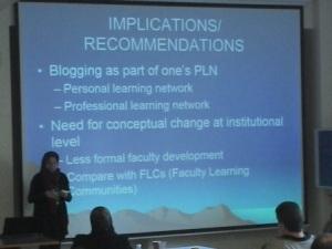Slide bloggende Lehrende